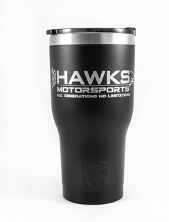 Hawks Motorsports RTIC Matte Black Tumbler, 30oz