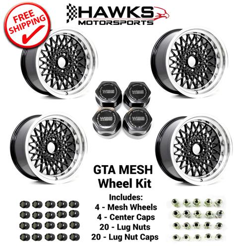GTA Black Mesh Wheel Kit - FREE SHIPPING