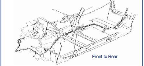 86-92 Camaro / Firebird, Power Disc Front to Rear Brake Line