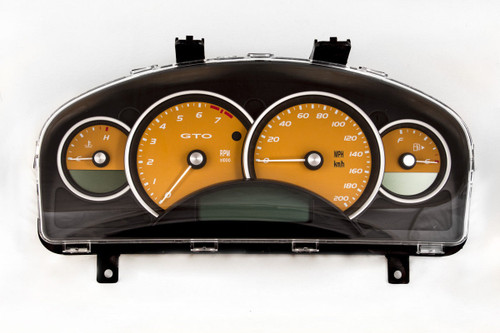 04-06 Pontiac GTO Holden Monaro 200mph Instrument Gauge Cluster Fusion Orange 92184021