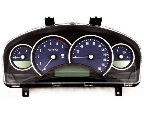 04-06 Pontiac GTO Holden Monaro 200mph Instrument Gauge Cluster Bermuda Blue 92123212