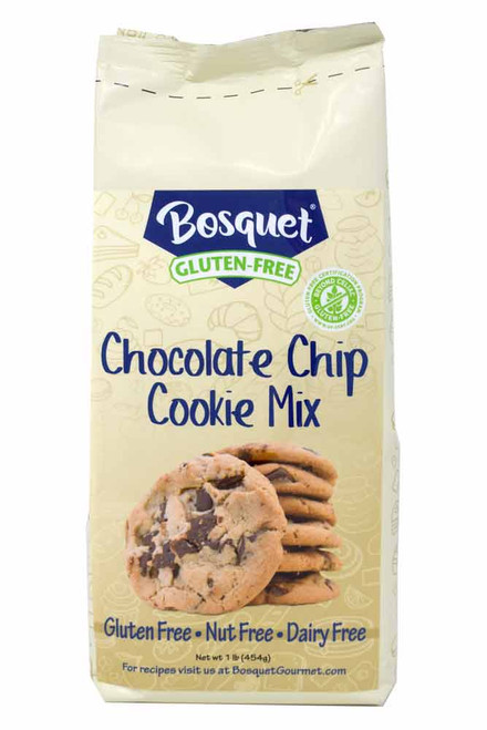 Bosquet Gluten-Free, nut free, dairy free chocolate chip cookie mix l lb bag