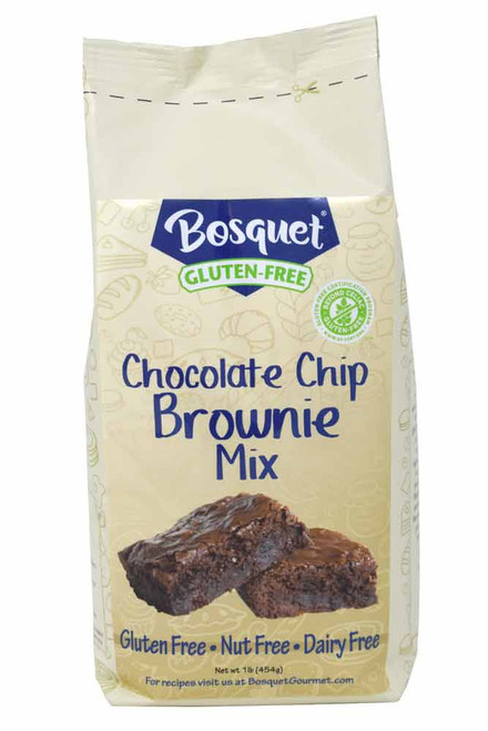 Bosquet gluten-free chocolate chip brownie mix 1 lb bag