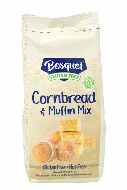 Bosquet Gluten-Free Cornbread and Muffin Mix .75 lb. bag