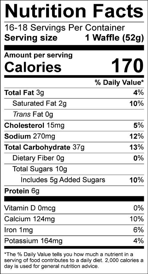 nutrition information for Bosquet gluten-free pancake & waffle mix
