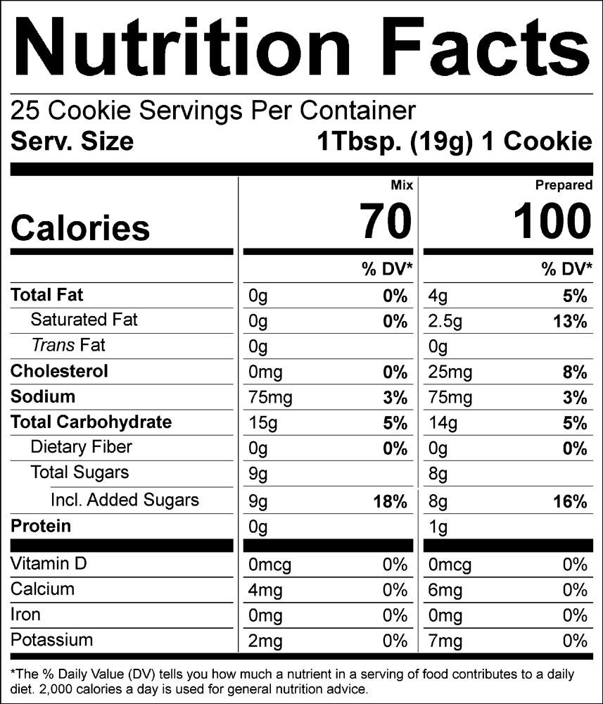 Bosquet sugar cookie nutrition