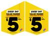 $5 Every Day Value Range Shopfront Flags