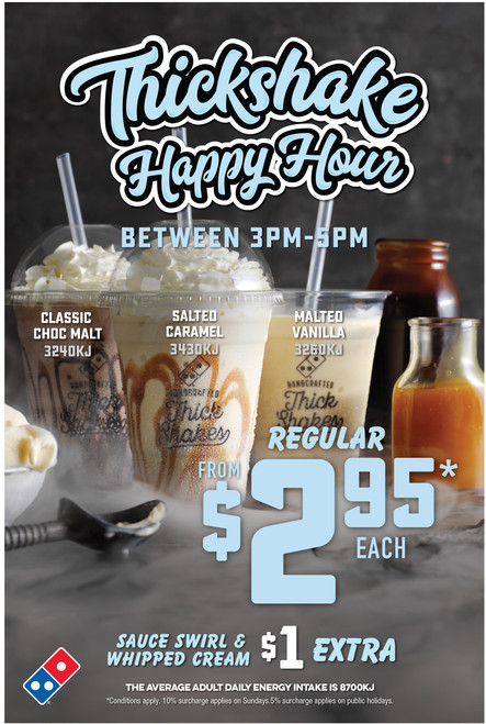 Thick Shake Happy Hour A-Frame Insert