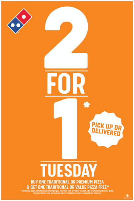 2 for 1 Tuesday A-Frame Insert
