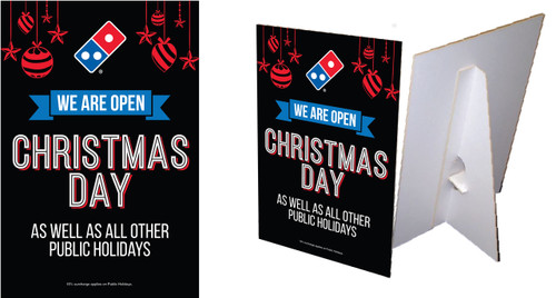 Open Christmas Day Counter Cards