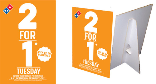2 for 1 Tuesday Counter Cards
