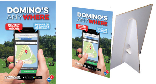 Domino's Anywhere Counter Cards