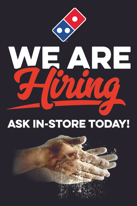 We Are Hiring A-Frame Insert