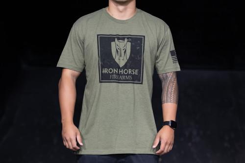 Iron horse green shirt