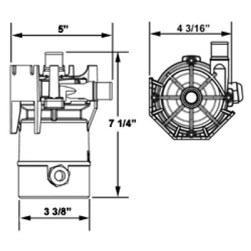 Laing Circulation Pump SM-909-NHW-14 1
