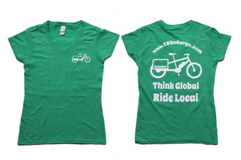 Girls T-Shirt : Think Global - Ride Local