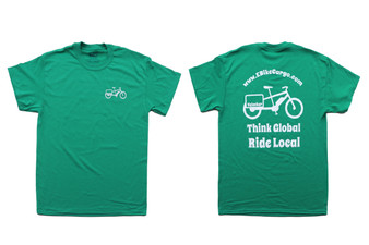 Guys T-Shirt : Think Global - Ride Local