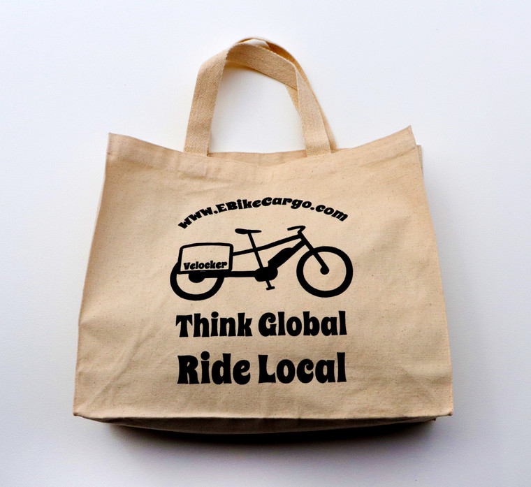 Tote Bag : Think Global - Ride Local