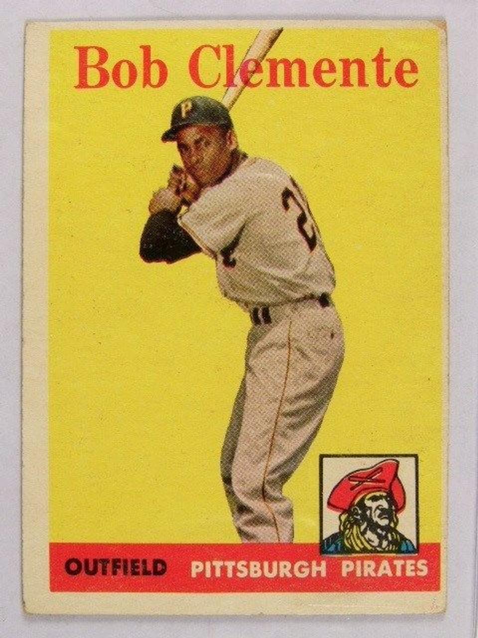 1958 Topps Roberto Clemente 52 Vg 31001