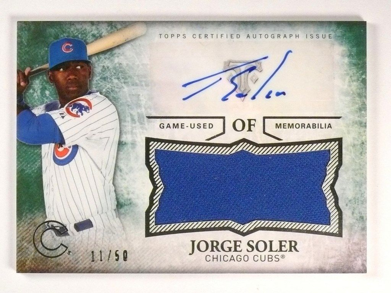 reputable site 9d781 9c745 SOLD 6495 2015 Triple Threads Jorge Soler Unity Jersey Auto Emerald #D11/50  #UAJRJSR *5084