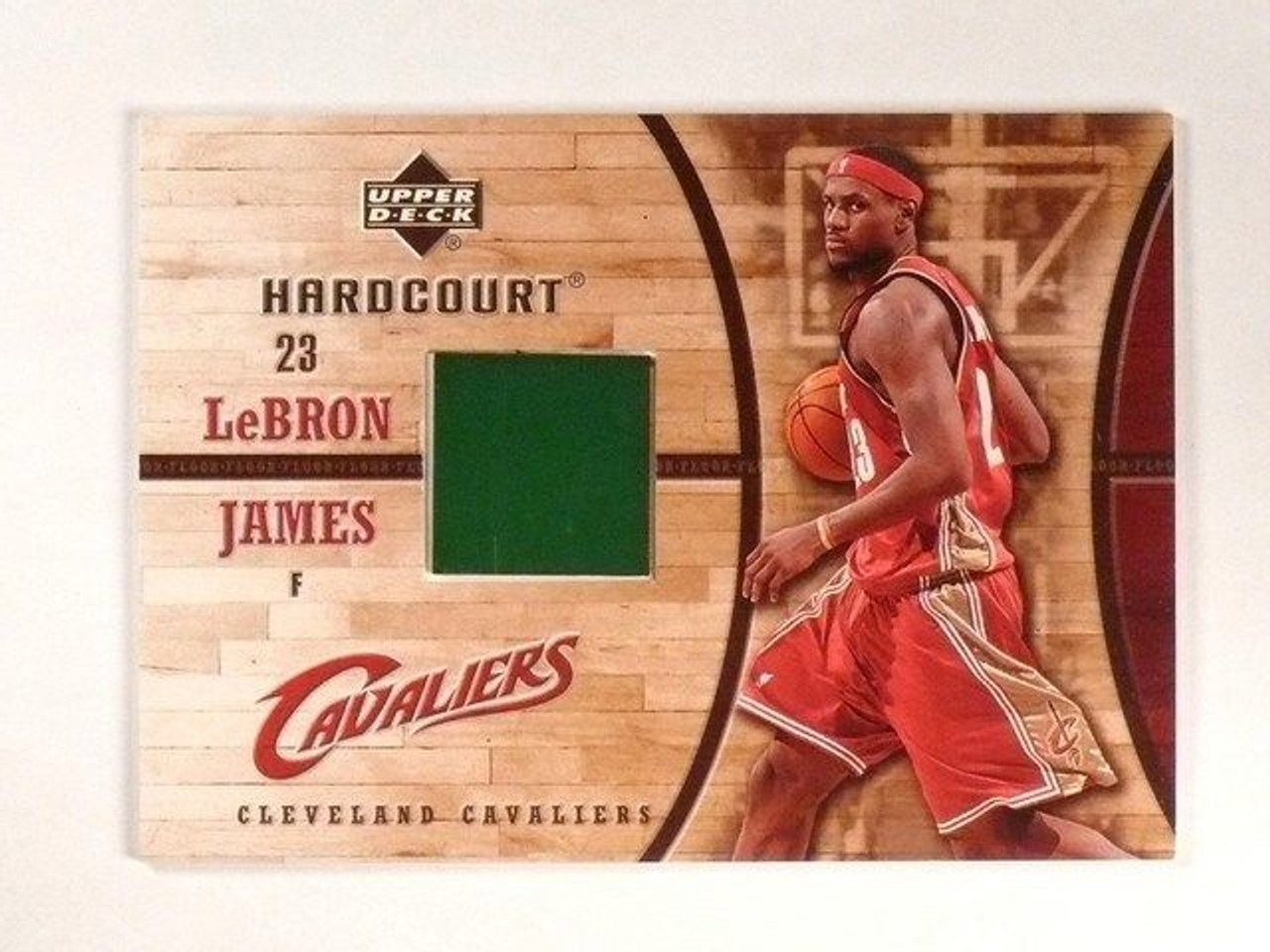 09ecf9093a0c3 SOLD 13557 2006-07 UD Hardcourt LeBron James Game Used Floor GF-16 ...