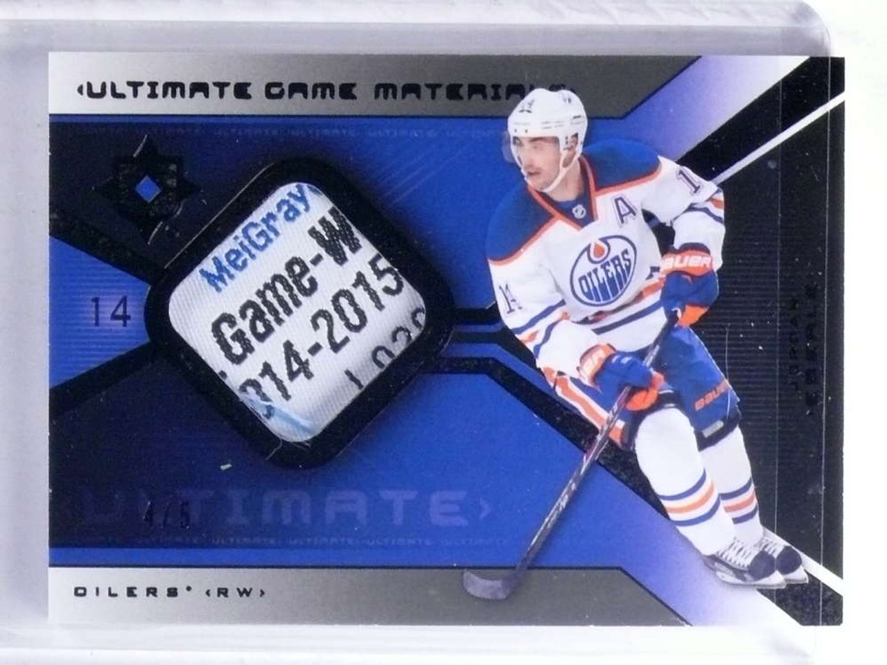 49a8fe8d1a9 SOLD 14684 2015-16 Ultimate Collection Game Materials Jordan Eberle tag  patch #D4/