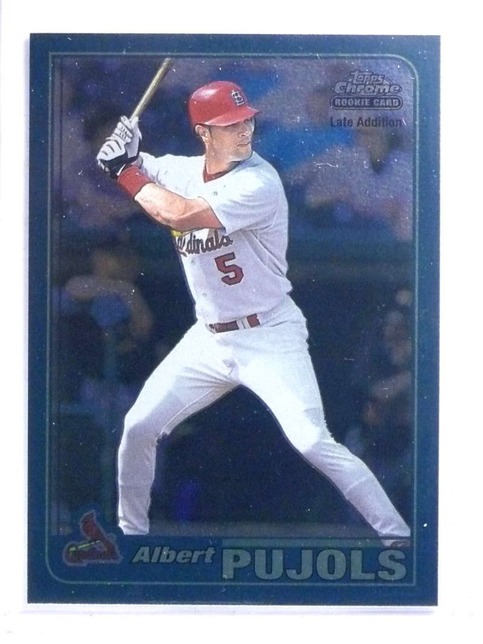 Sold 14719 2001 Topps Chrome Final Edition Albert Pujols Rc Rookie 596 68158
