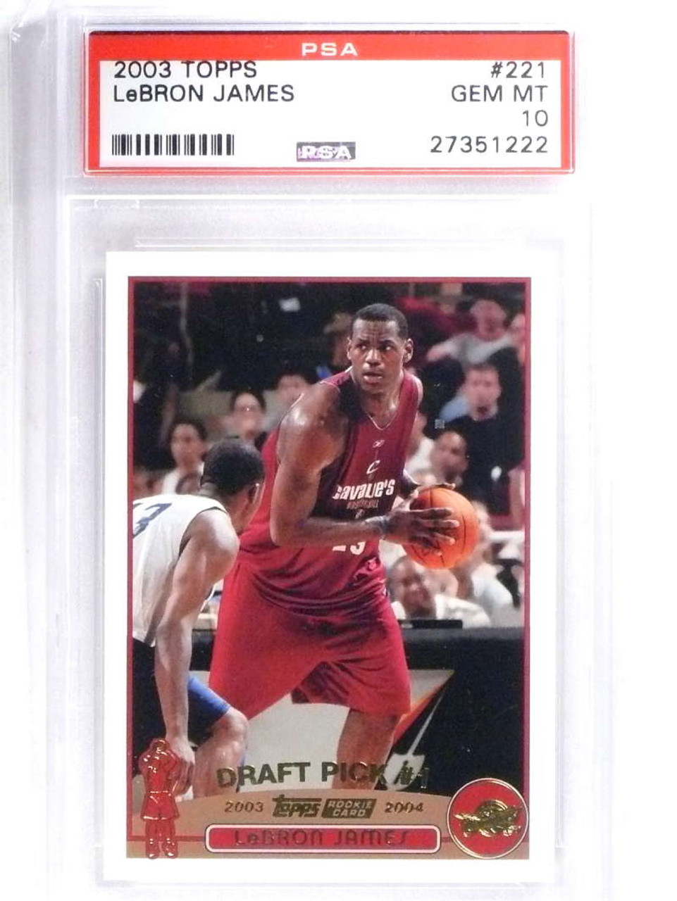Sold 14950 2003 04 Topps Collection Lebron James Rc Rookie 221 Psa 10 Gem Mint 68330