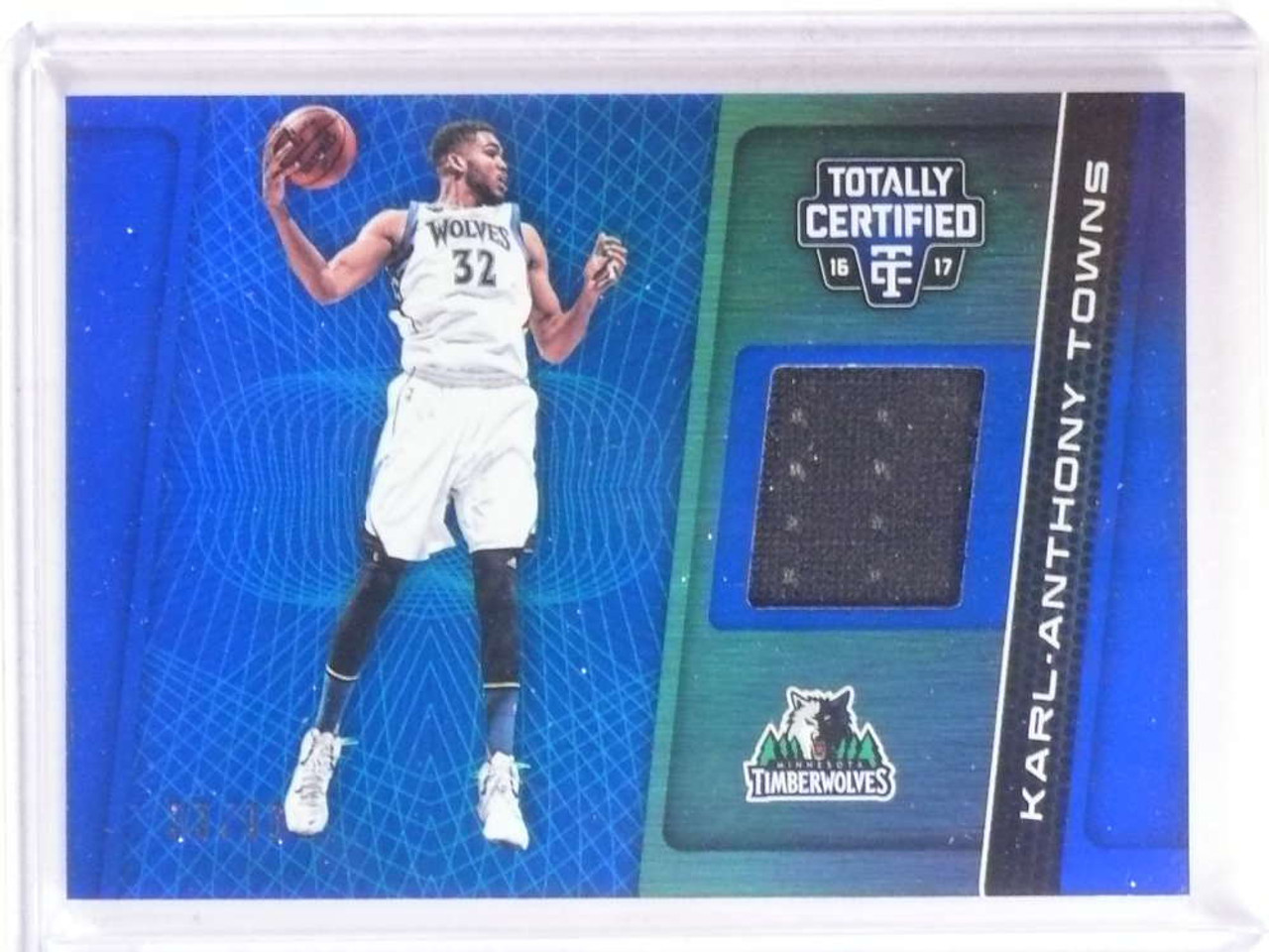 new product 1e3de 21558 2016-17 Panini Totally Certified Karl-Anthony Towns jersey #D33/99 #6 *68459