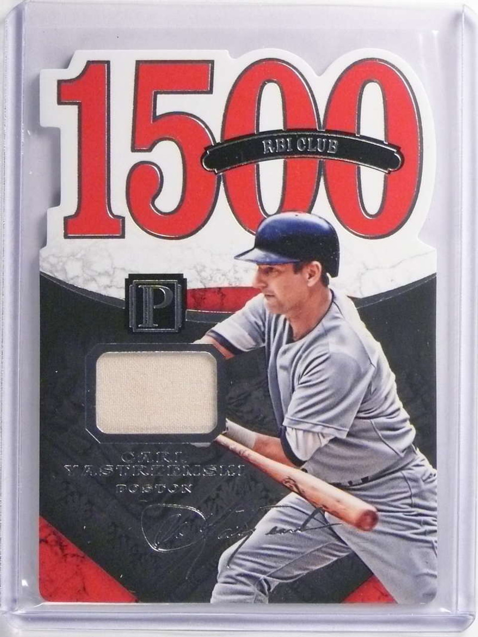 new arrival aa7c1 60556 SOLD 17348 2016 Panini Pantheon 1500 RBI Club Carl Yastrzemski Jersey  #D190/199 #79 *70309