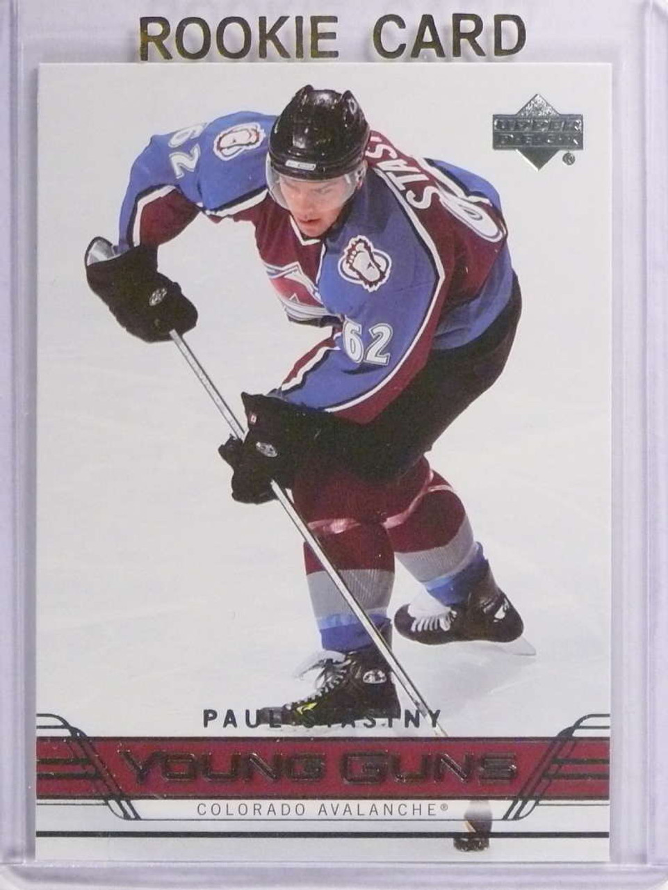 Sold 17947 2006 07 Upper Deck Paul Stastny Rookie Rc Yg Young Guns