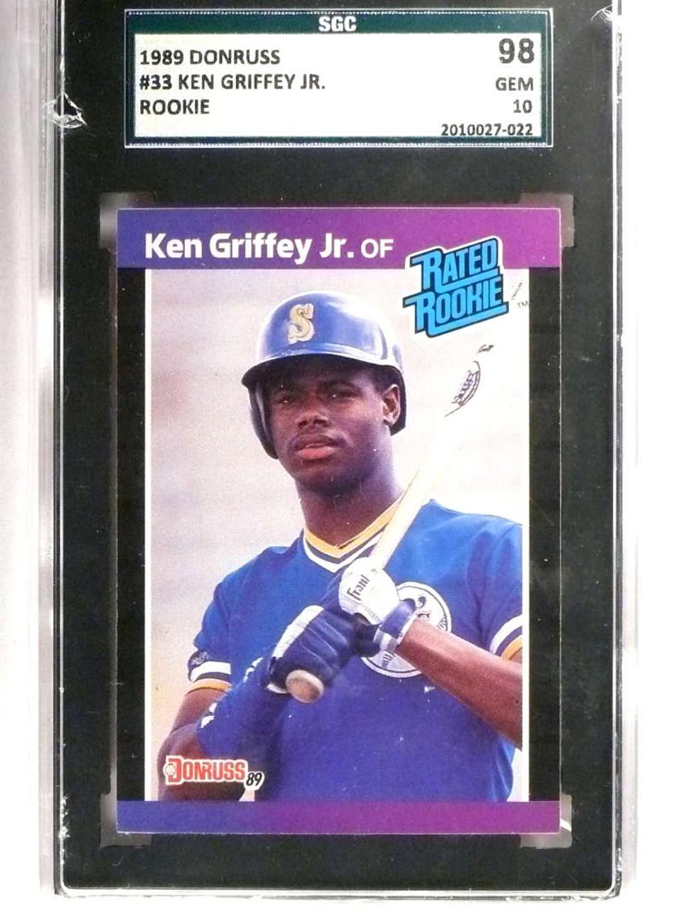 Sold 18256 1989 Donruss Ken Griffey Jr Rookie Rc 33 Sgc 98 Gem 10 71387