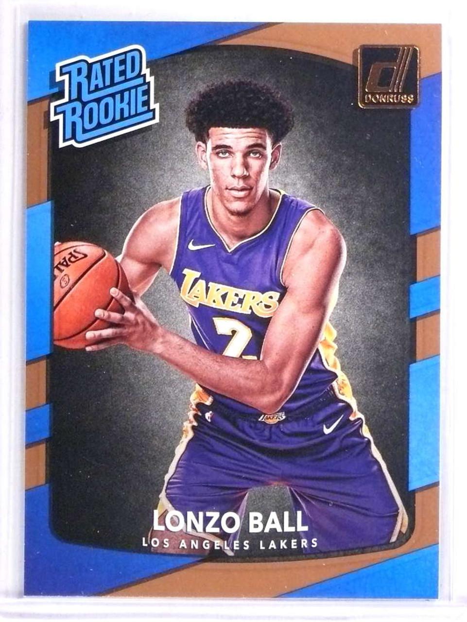 767cec4a5 2017-18 Panini Donruss Lonzo Ball Rookie RC  199  71473 - Sportsnut ...