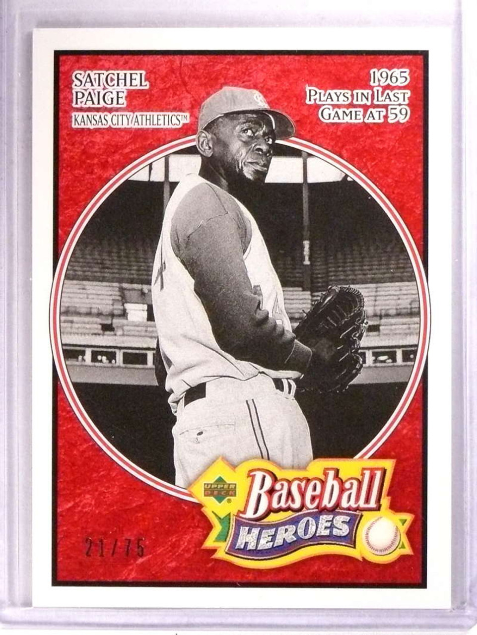 2005 Upper Deck Baseball Heroes Red Satchell Paige D2175 184 71789