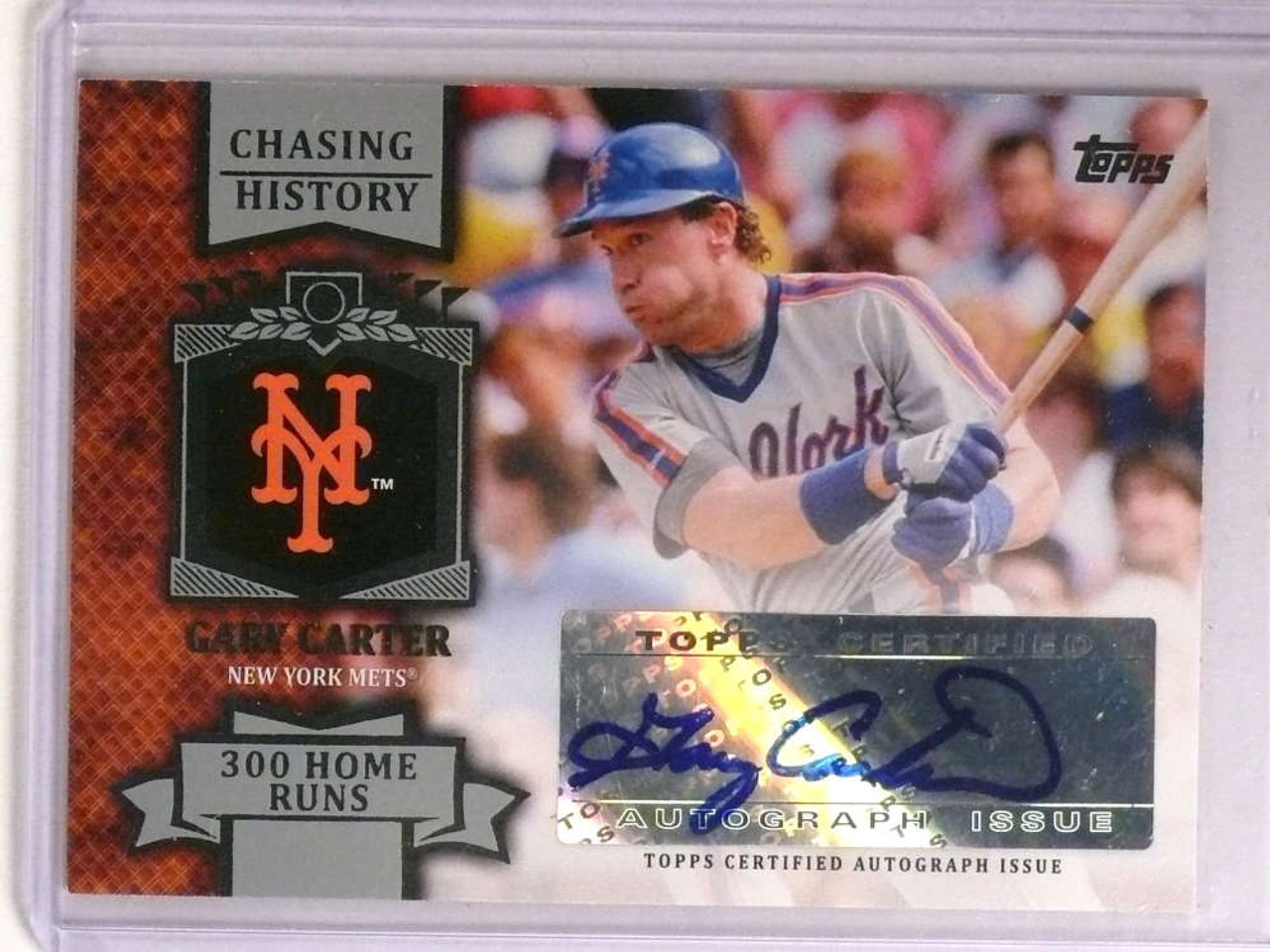 2013 Topps Chasing History Gary Carter Autograph Auto Cha Gc 72530