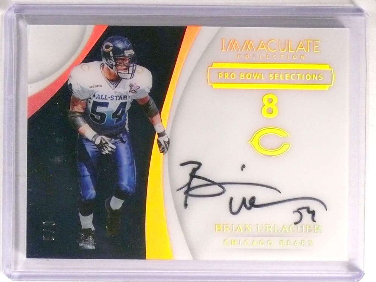 buy popular 98924 764a6 2017 Immaculate Collection Pro Bowl Brian Urlacher autograph auto #D5/8  *73221