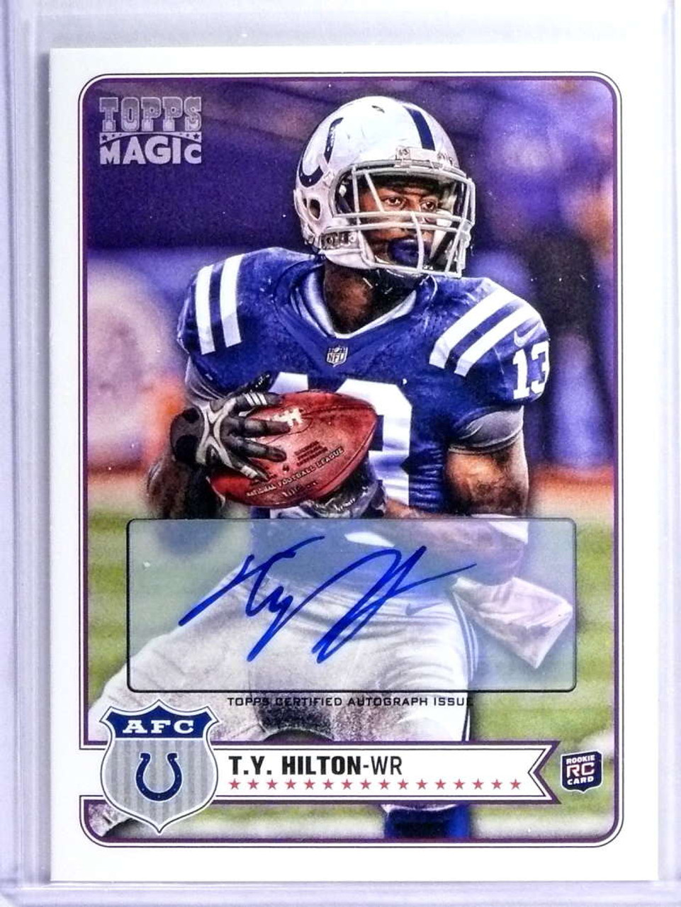 promo code 94900 fd9f2 2012 Topps Magic T.Y. Hilton Autograph Auto Rookie RC #215 *75032