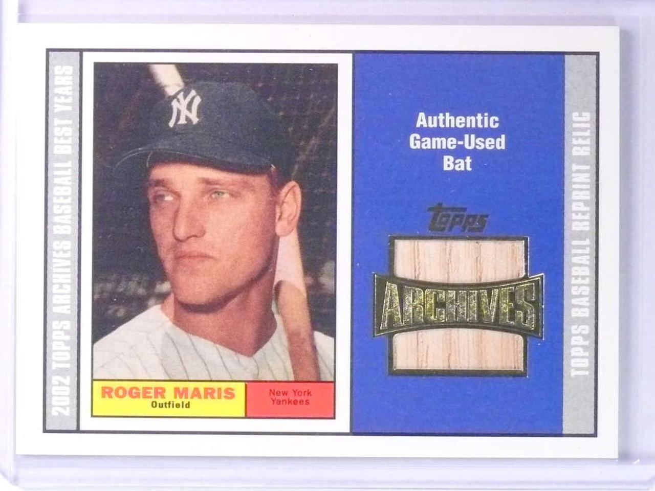 Sold 22703 2002 Topps Archives Roger Maris Bat Tbrrm 75494