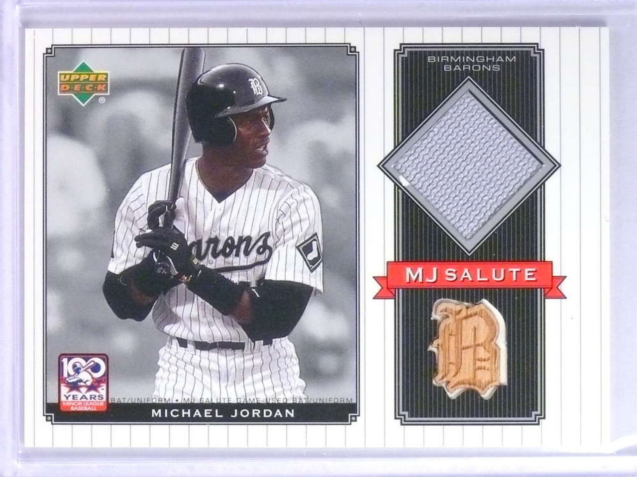 info for bdced 8dd3d 2001 Upper Deck Minors Centennial MJ Michael Jordan Bat Jersey #MJBJ *75738