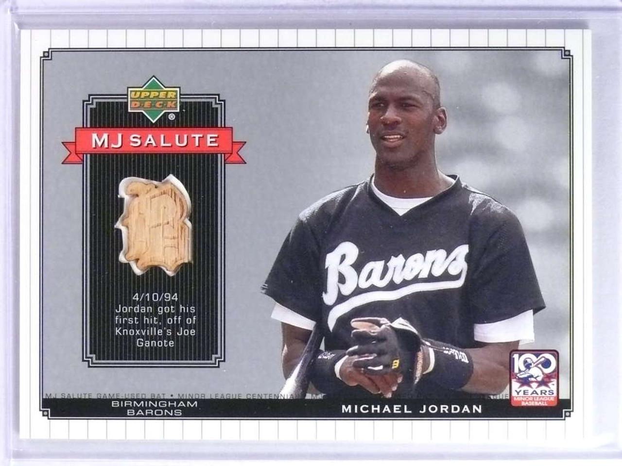 2001 Upper Deck Minors Centennial Mj Michael Jordan Bat Mjb3 75740
