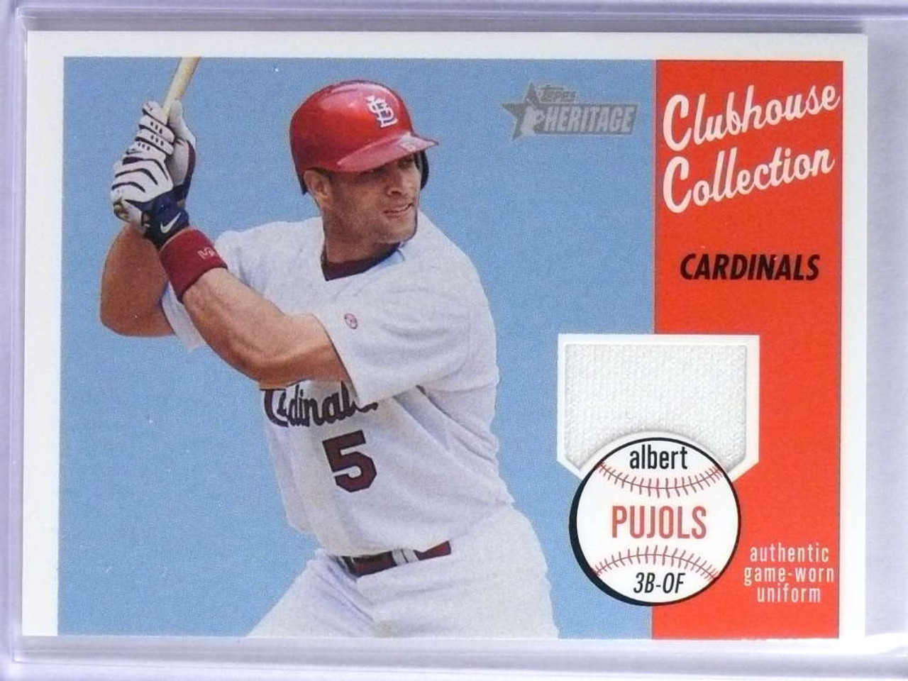 2003 Topps Heritage Clubhouse Collection Albert Pujols Jersey Ccap 76023