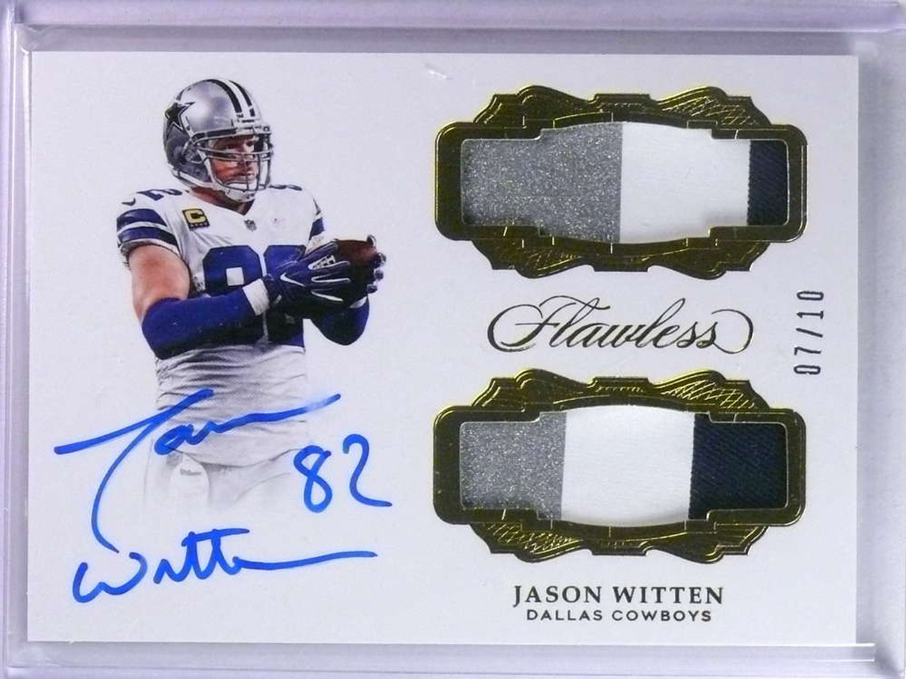 online store 105dd c948c 2018 Panini Flawless Jason Witten autograph auto dual patch #D07/10 #DP-WI  *76634