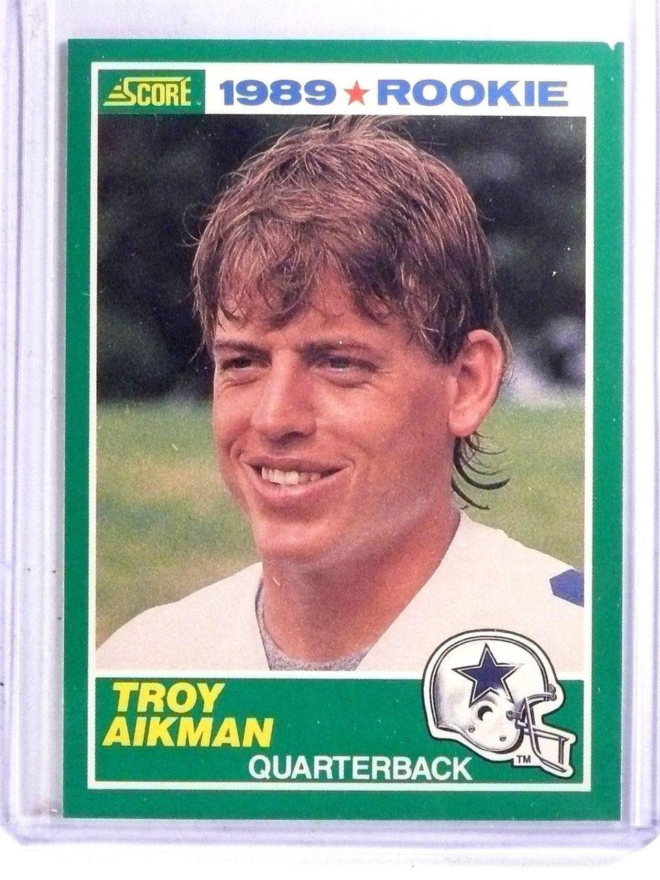 1989 Score Troy Aikman Rookie Rc 270 Ex 66585