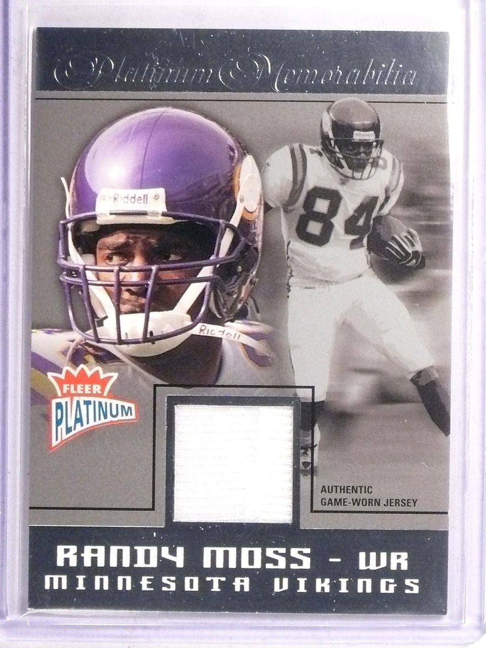info for 6823d d7df9 2004 Fleer Platinum Memorabilia Randy Moss Jersey #PMRM *67111