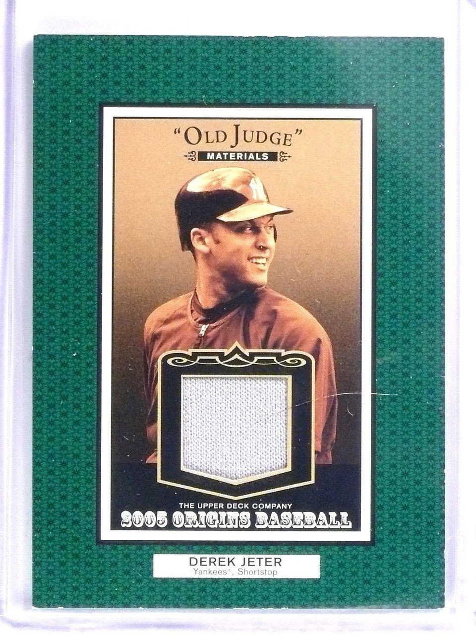 2005 Upper Deck Origins Old Judge Derek Jeter Jersey Ojdj 58026