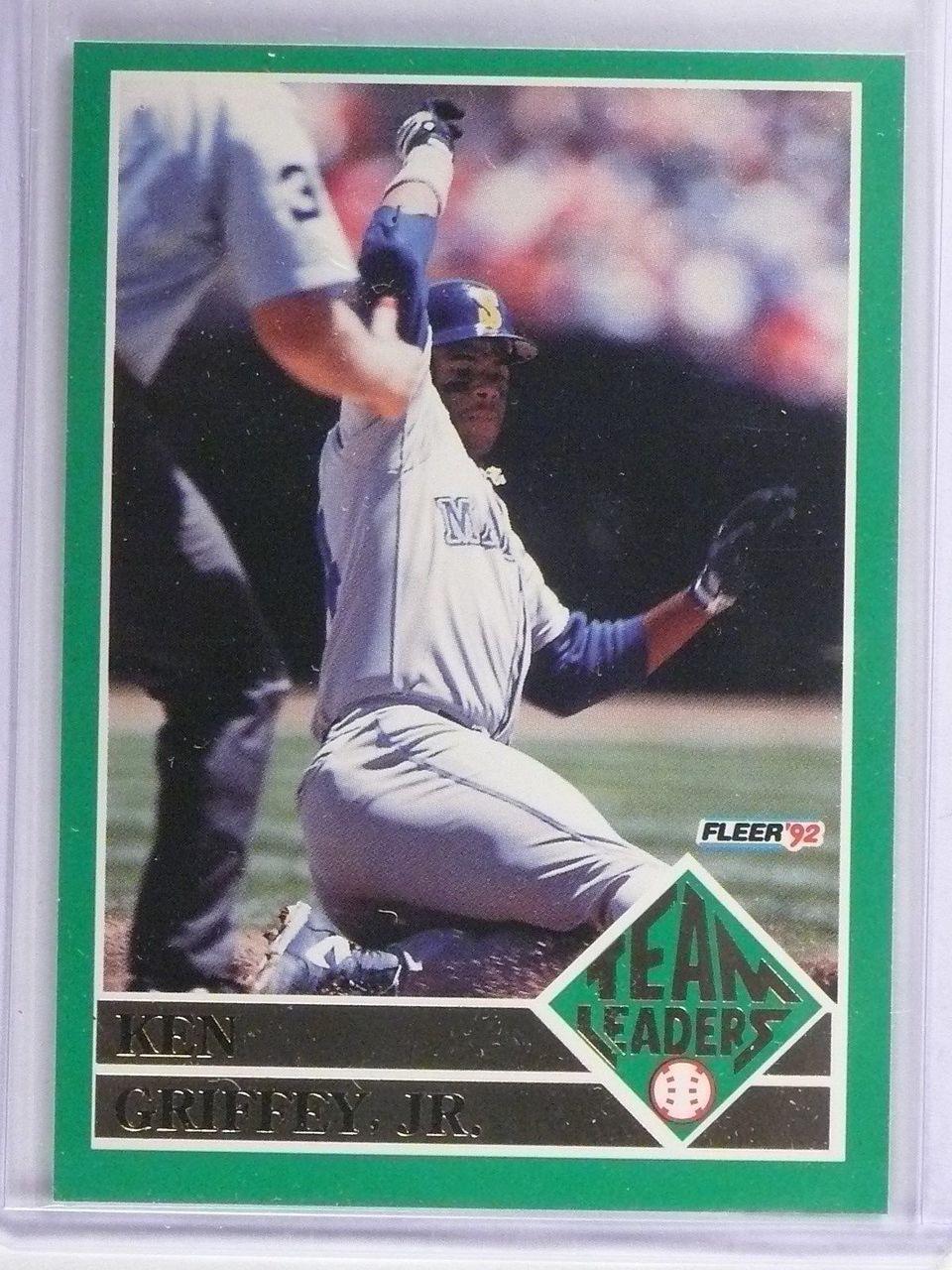 1992 Fleer Team Leaders Ken Griffey Jr 15 62322