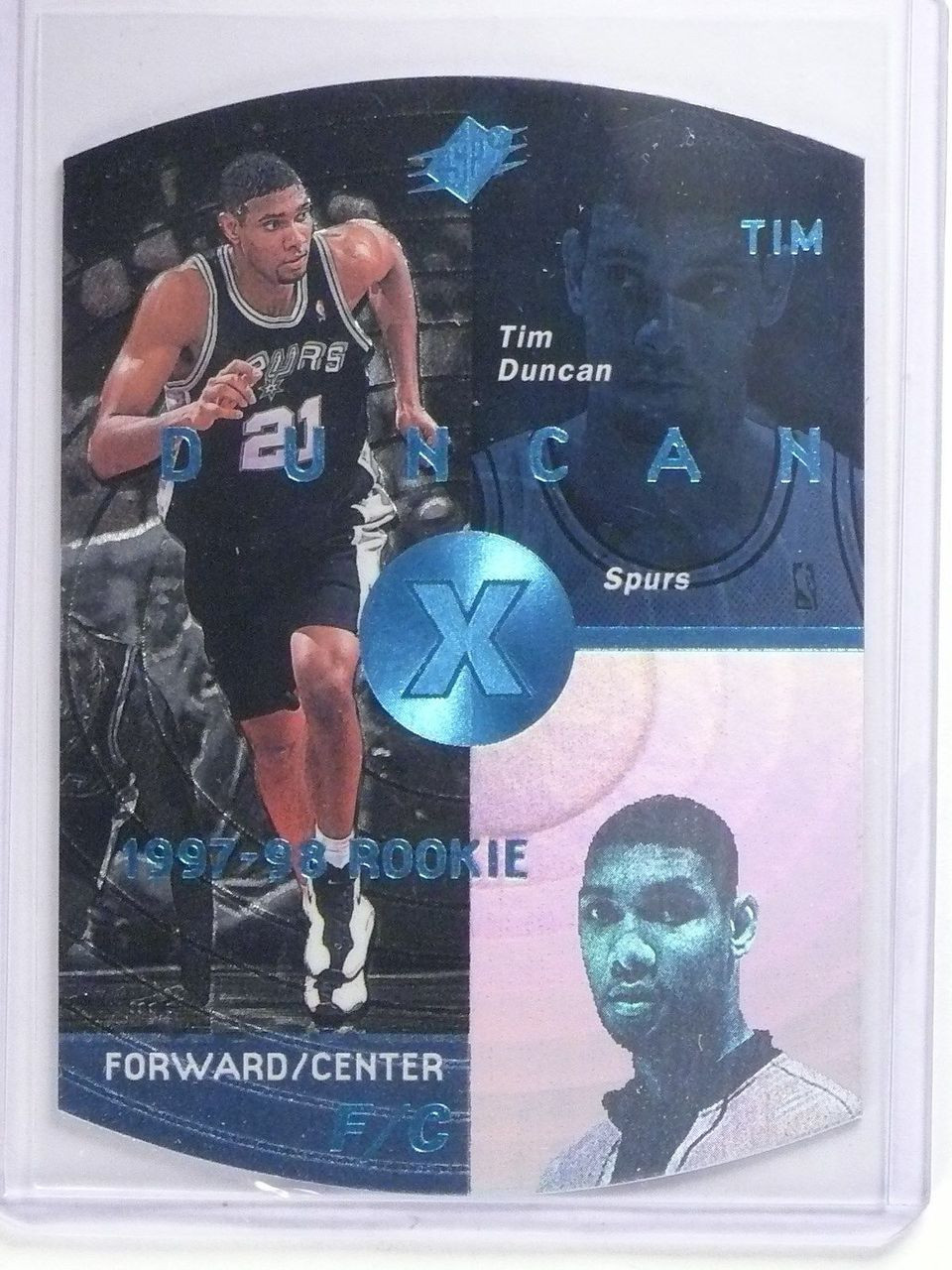 1997 98 Upper Deck Spx Sky Blue Tim Duncan Rookie Rc 37 64533
