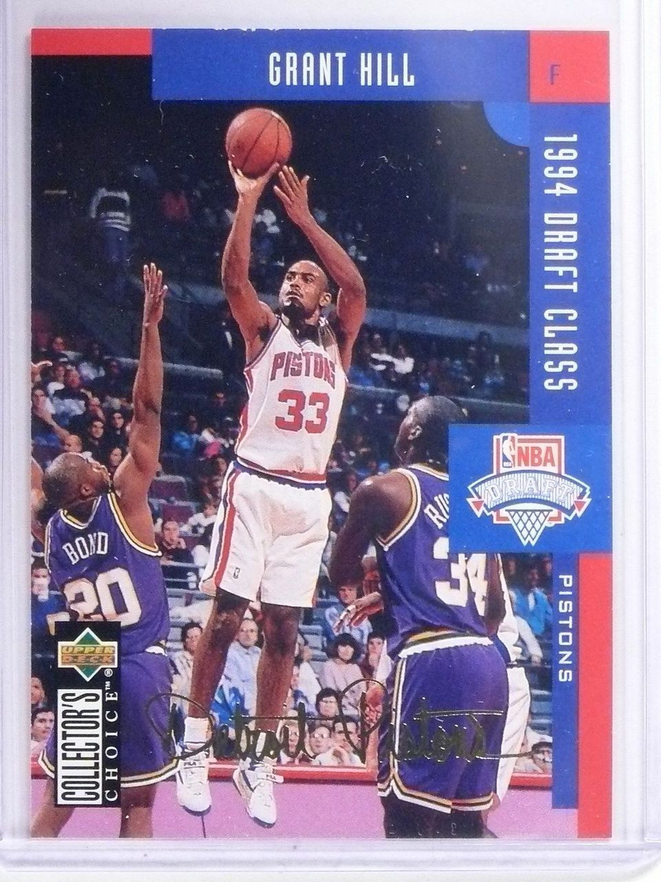 1994 95 Ud Collectors Choice Gold Signature Grant Hill Rookie 409 English 642