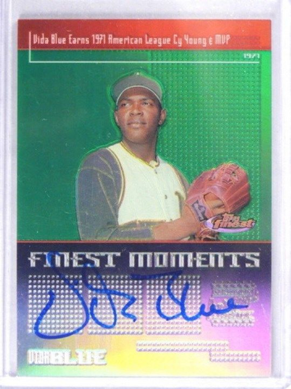 2004 Topps Finest Moments Vida Blue Auto Autograph Fma Vb 35689