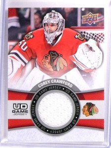 2015-16 Upper Deck Series 1 Corey Crawford UD Game Jersey #GJCO *54219